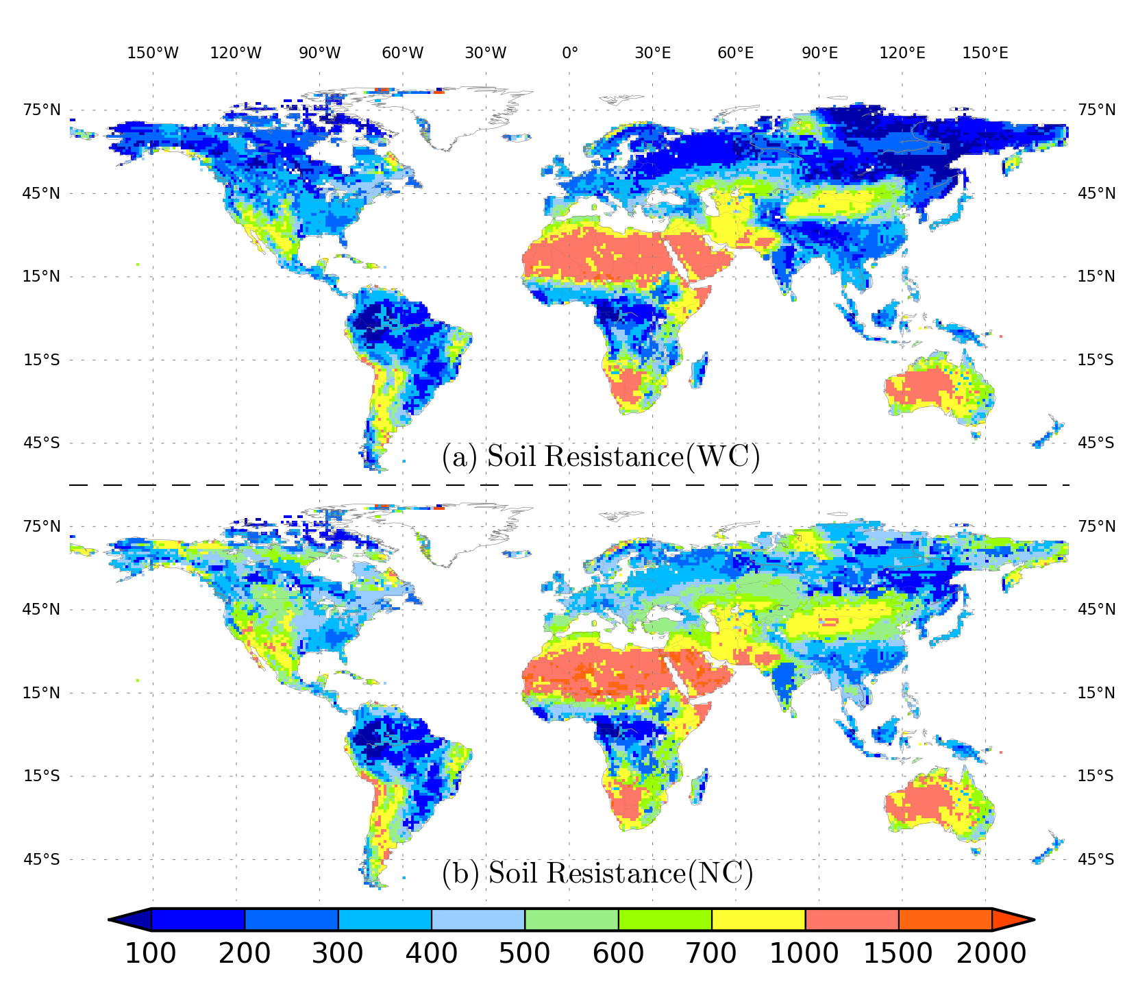 Gw supplied et and climate soil and vegetation for Soil 4 climate